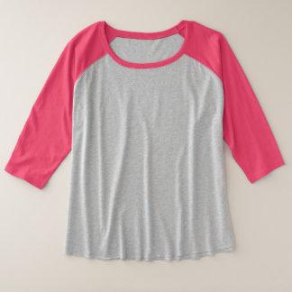 Der Plus-Size der Frauen 3/4 Hülseraglan-T - Shirt