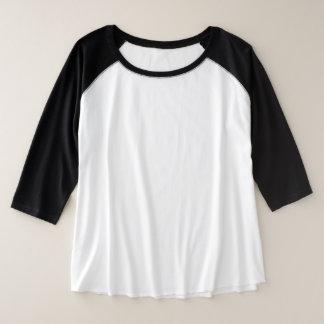 Der Plus-Size der Frauen 3/4 Wahl HülseRaglan 3 Große Größe Raglan T-Shirt