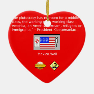 Der Plutocracy in Amerika Keramik Ornament