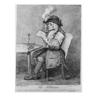 Der Politiker, geätzt von John Keyse Sherwin Postkarte
