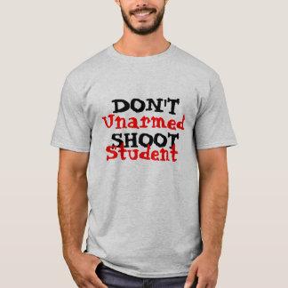 Der politische Protest-Aktivist schießen nicht T-Shirt