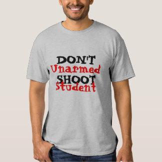 Der politische Protest-Aktivist schießen nicht Tshirts