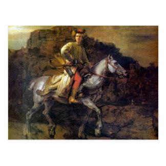 Der polnische Reiter durch Rembrandt Harmenszoon Postkarte