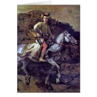 Der polnische Reiter durch Rembrandt Van Rijn Grußkarte