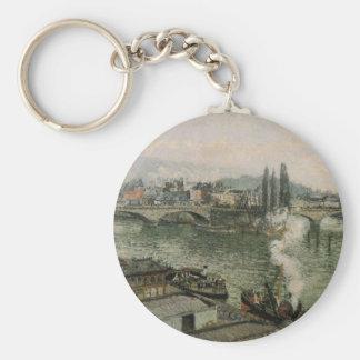 Der Pont Corneille, Rouen, graues Wetter durch Schlüsselanhänger