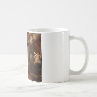 Der Power der Liebe in den drei Elementen durch Kaffeetasse