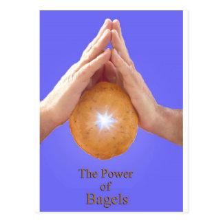 Der Power des Bagels Postkarte
