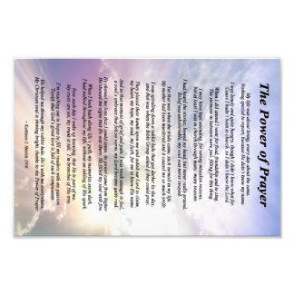 Der Power des Gebets-Gedichtes Fotodruck