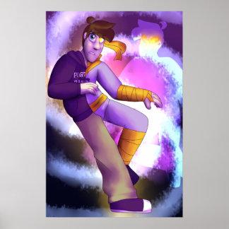 Der Power-Pillen-Kunst-Bucheinband Poster