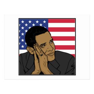 Der Präsident Barack Obama Postkarten