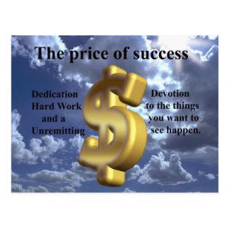 der Preis des Erfolgs Postkarte