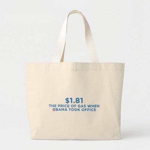 Der Preis des Gases Einkaufstaschen