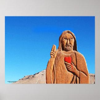 Der Priester in der Wüste Poster