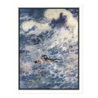 Der Prinz und die Meerjungfrau durch Edmund Dulac Postkarte