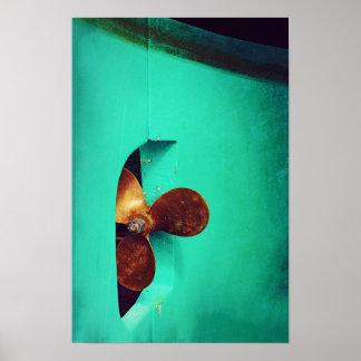 Der Propeller-Boots-Seeplakat des Schiffs Poster