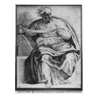 Der Prophet Joel, nach Michangelo Buonarroti Postkarte