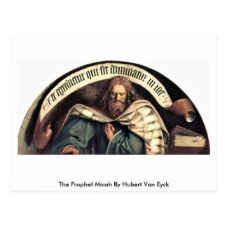 Der Prophet Micah durch Hubert Van Eyck Postkarte