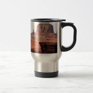 Der Punkt John-Fords, Monument-Tal, Utah (Titel) Reisebecher