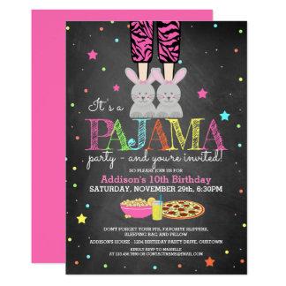 Der Pyjama-Party-Geburtstags-Einladungen der Karte