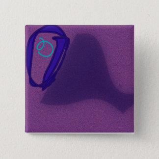 Der quadratische Knopf des Buchstabe-O Quadratischer Button 5,1 Cm
