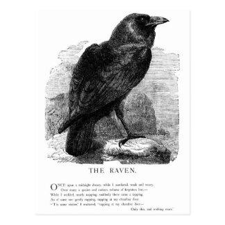 Der Rabe durch Edgar Allen Poe Postkarte