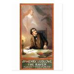 Der Rabe Georges Hazeltons (Edgar Allan Poe) 1908 Postkarten