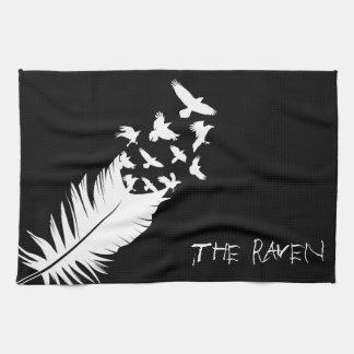 Der Rabe, Schwarzweiss Handtuch