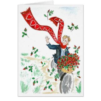 Der Radfahrer des Valentinsgrußes Karte
