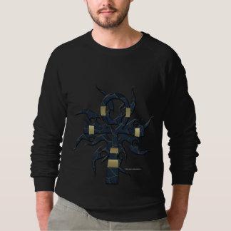 Der Raglan-Sweatshirt blauer GoldAnkh Männer Sweatshirt