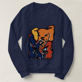 """Der Raglan-Sweatshirt """"der Elefant-bunten"""" Männer Sweatshirt"""