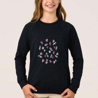 Der Raglan-Sweatshirt der Klee-Blumen-Mädchen Sweatshirt