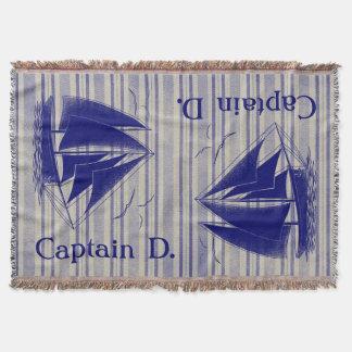Der Raum des Kapitänmonogramm-Jungen nautisch Decke
