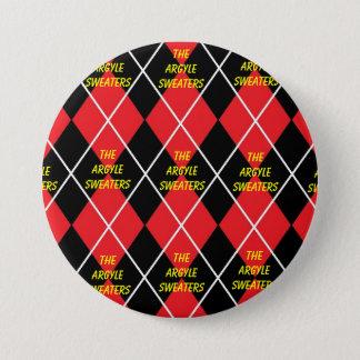 Der Rauten-Strickjacke-Fan-Knopf Runder Button 7,6 Cm