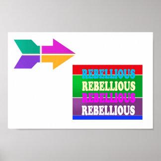 Der REBELLISCHE REBELLISCHE Billig AUFSTAND Poster