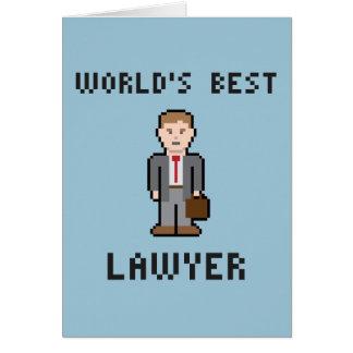 Der Rechtsanwalt-Gruß-Karte der Pixel-Welt beste Grußkarte