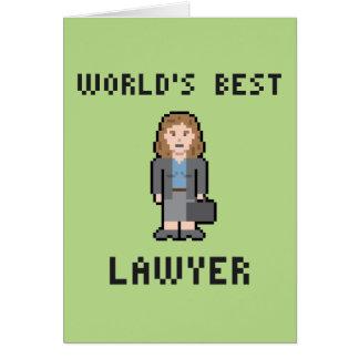 Der Rechtsanwalt-Gruß-Karte der Pixel-Welt beste Karte
