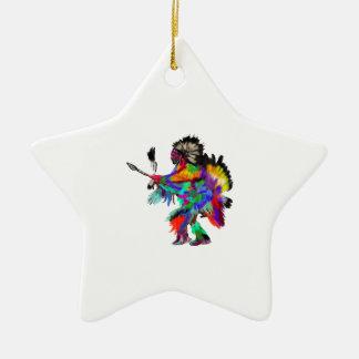 Der Regen-Tanz Keramik Stern-Ornament