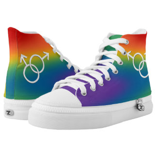 Der Regenbogen-Liebe-Schuhe der Gay Hoch-geschnittene Sneaker