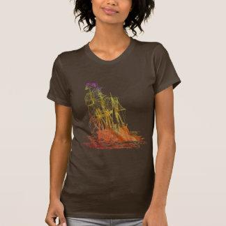 Der Regenbogen-Piraten-Schiffs-T - Shirt der