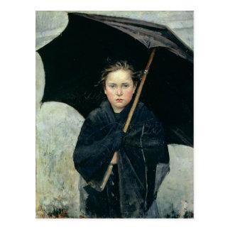 Der Regenschirm durch Marie Bashkirtseff CC0220 Postkarte
