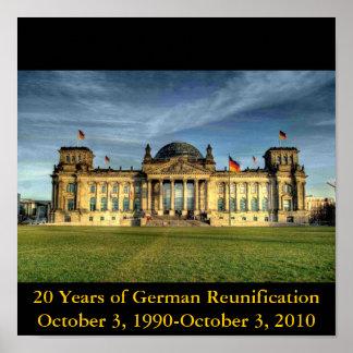 Der Reichstag, 20 Jahre deutsche Wiedervereinigung Plakatdrucke