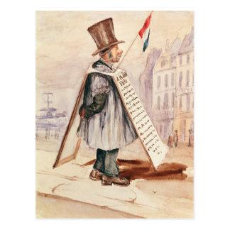 Der Reklametafel-Mann, Boulevard du Temple, 1839 Postkarte