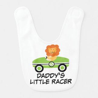 Der Rennläufer-Auto-Baby-Schellfisch des Vatis Lätzchen