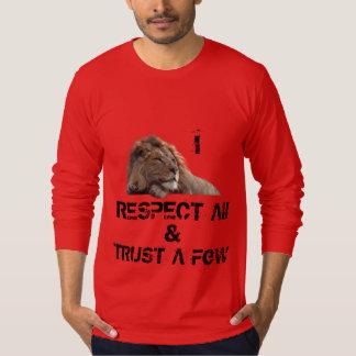 Der Respekt der Männer alle feine lange Hülse T-Shirt