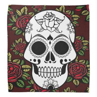 Der Retro hübscher Schädel Rosenkunst der Bandanna Kopftuch