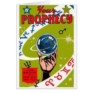 Der Retro Vintage Ihr Kitsch prophezeien Karte