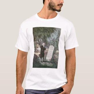 Der Rev. John Wesley, der das Grab seiner Mutter T-Shirt