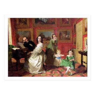 Der Rev. und die Frau Palmer-Lovell mit ihrer Postkarte