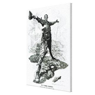 Der Rhodos-Koloss vom Durchschlag Galerie Gefaltete Leinwand