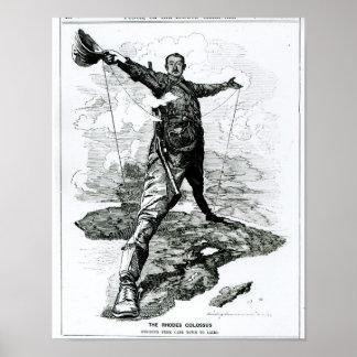 Der Rhodos-Koloss vom Durchschlag Poster